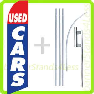 Feather Flutter Banner Sign Flag Kit auto  USED CARS b4