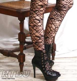 Goth Cobweb Spider Web Crochet Fishnet Tights Pantyhose