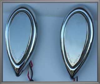 Chrome Tear Drop 39 LED Tail Brake or Turn Signal Lights for Harley
