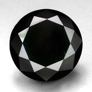 BIG 5.29cts 10.8 mm Jet black Loose Natural Diamond |