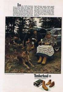 1978 Timberland Leather Boots Vintage Ad