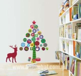 Removable Wall Sticker,Great Xmas Gift, Wish U Merry Xmas