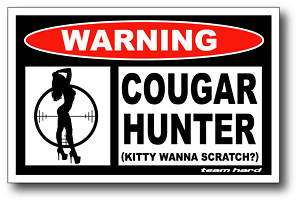 Cougar Hunter Funny Redneck Sticker Decal Truck 4x4 ATV