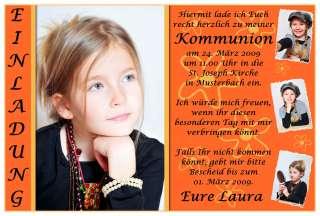 50x FOTO Danksagungskarten Kommunion Konfirmation Jugendweihe