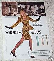 1988 Virginia Slims cigarettes 1 PAGE AD   pumping iron