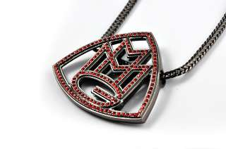 New Red Rhinestone Rick Rosss Maybach Pendant Necklace w/Franco