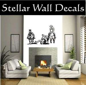 Cowboy Horse Wall Car Vinyl Decal Sticker STLARGE037
