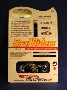 Hot Wheels Real Riders Blast Lane Custom Chopper Motorcycle 2007