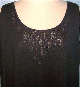 2X EILEEN FISHER GRAPHITE GRAY LINEN JERSEY WITH SEQUINS SEQUINED TANK