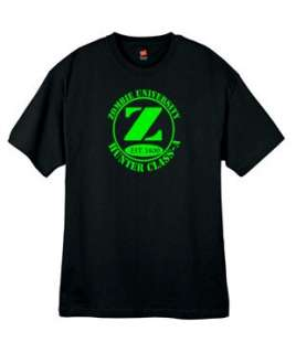 NEW Zombie University Undead Green Logo Shirt All Sizes Colors and