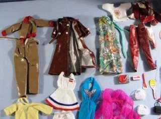 Vtg Lot Barbie Clothes Case Shoes Boots Cowgirl Suitcases Hangers
