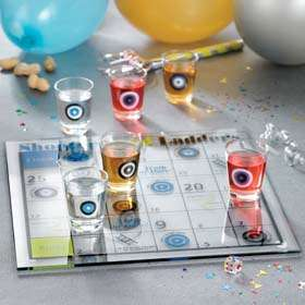 Shot Glass Drinking Bar Game Set in 2 Styles, New