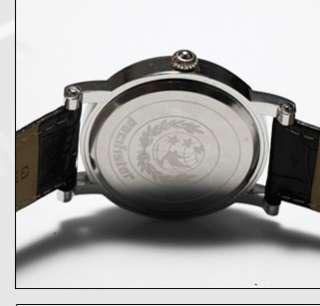 PACIFISTOR Vintage Date Quartz Mens Wrist Watch Gold Roman Brown