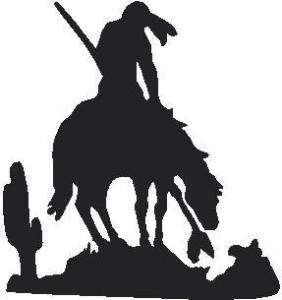 END OF THE TRAIL HORSE LANCE VINYL DECAL STICKER 89 1