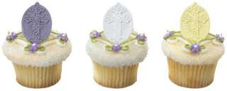 Inspirational Cross Cake Cupcake Ring Decoration Toppers Party Favors