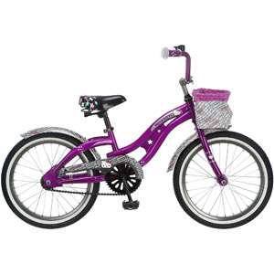 Hello Kitty 18 Girls Cruiser Bike Cute Purple Basket Bicycle