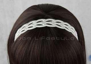 Rhinestone Bridal Wedding Goddess Greek Style Headband Bling Hair Head