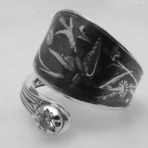STERLING SILVER DIAMOND spoon ring AUDUBON by TIFFANY & CO.
