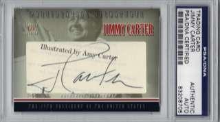 Jimmy Carter PRESIDENTIAL Signed Cut CARD #d 1/1 PSA/DNA