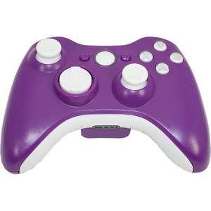 MadModz Matte Purple Whiteout XBOX 360 Controller Kit