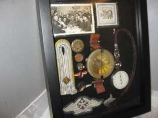 1941 WWII GERMAN GUN METAL CASED JUNGHANS MILITARY WATCH BOX + ACE