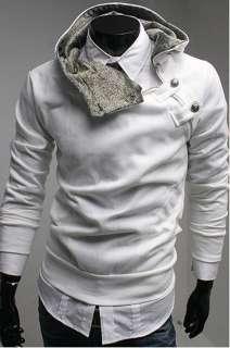Mens Slim Fit Sexy Top Designed Cotton Hoody Hoodie Hooded Jacket M L
