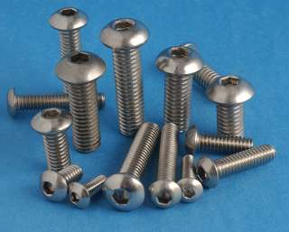STAINLESS BUTTON HEAD SOCKET SCREW DOME HEAD M6 X 25