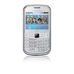 Samsung Chat 335 Ch t   White Unlocked Smartphone 8806071264547