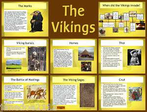 THE VIKINGS Primary Interactive Whiteboard Teaching Resources