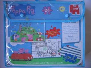 PEPPA PIG Giant Double Sided 24 Piece PUZZLE & COLOUR by JUMBO   BRAND