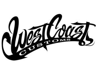 Stickers auto WEST COAST CUSTOMS / Réf 321 F17