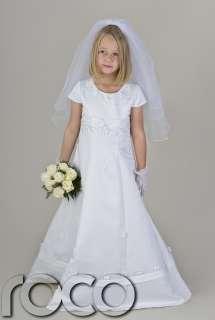 Girls White Communion Dress Flower Girl Wedding Bridesmaid Dresses 6