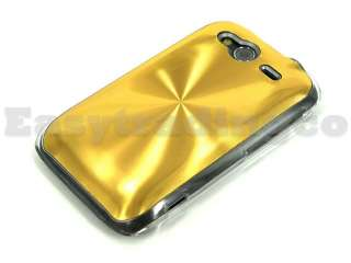 Metal Plated Hard Case Cover HTC Wildfire S A510E Gold