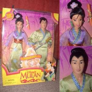 Poupée Barbie Disney Princesse Mulan & Li Shang Coffret