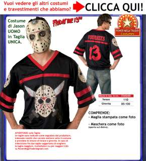 Costume Maschera + T shirt JASON Carnevale UOMO ADULTO