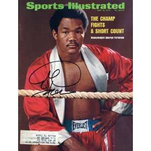 George Foreman Autographed Sports Illustrated Magazine   June 18, 1973