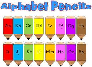ALPHABET PENCILS DISPLAY TEACHING RESOURCES KS1 EYFS