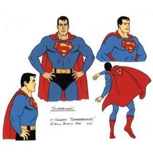 Superman Poses Hanna Barbera Model Cel from Superfriends