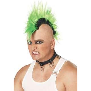 Mohawk Mohican 70s 80s Punk Style Fancy Dress Wig Green