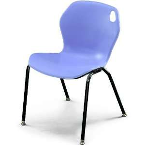 18H Intuit Stacking Chair with Powder Coat Frame   Blueberry Chair/Bl