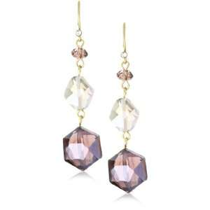 Kenneth Cole New York Modern Violet Violet Glass Faceted 3 Stone