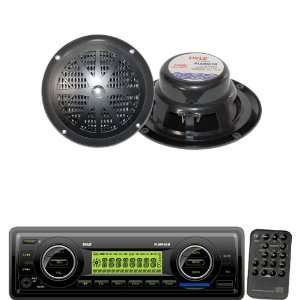 Pyle Marine Radio Receiver and Speaker Package   PLMR86B