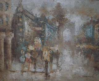 Street Scene Original Impressionist Oil Painting By Donald Blagge