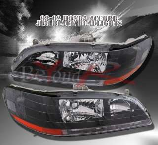 98 02 ACCORD JDM BLACK CRYSTAL HEADLIGHT SEDAN/COUPE V6