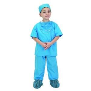 Jr Doctor Scrubs   Blue Child Costume Ages 8 10 (BDRB 810