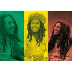 Bob Marley Rasta Collage Poster Flag Home & Kitchen