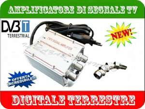 AMPLIFICATORE DI SEGNALE TV ANTENNA DIGITALE TERRESTRE