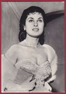 SILVANA PAMPANINI 07 ATTRICE CINEMA MOVIE STAR FOTOGR.