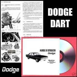 Manual Reparación y Despiece DODGE DART 3700 GT WAGON