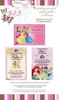 DISNEY PRINCESS Personalised Birthday Invitation